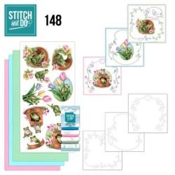 (STDO148)Stitch and Do 148 - Amy Design - Friendly Frogs