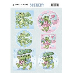 (CDS10022)Scenery - Yvonne Creations - Happy Frogs
