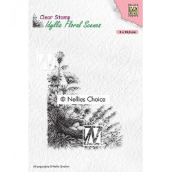 (IFS032)Nellie`s Choice Clearstamp - Idyllic Floral Bird's nest