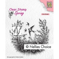 (SPCS016)Nellie`s Choice Clearstamp - Spring is in the air