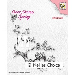 (SPCS017)Nellie`s Choice Clearstamp - Spring lovers
