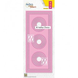 (MFD139)Nellie's Multi frame Block Die Slimlines circles-1