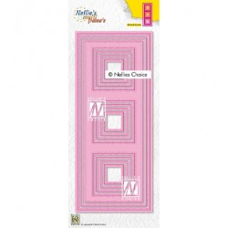 (MFD140)Nellie's Multi frame Block Die Slimlines squares-1