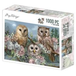(ADZP1010)Jigsaw puzzel 1000 pc - Amy Design - Romantic Owls