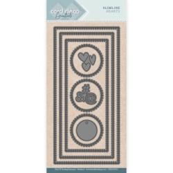 (CDECD0055)Card Deco Essentials - SlimLine Dies - Slimline Hearts