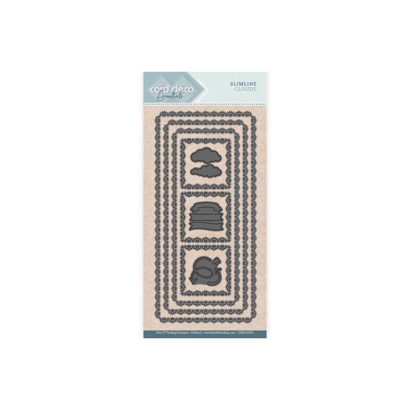 (CDECD0056)Card Deco Essentials - Slim Line Dies - Slimline Clouds