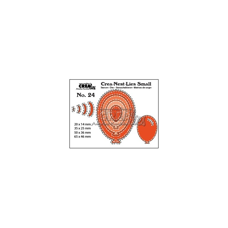 (CNLS24)Crealies Crea-nest-Lies Small Balloons with stitch (4x)