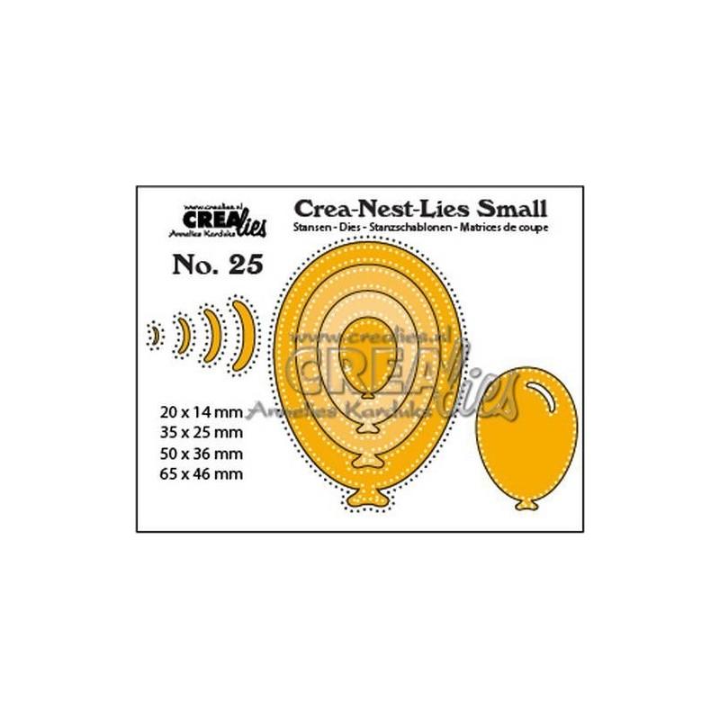 (CNLS25)Crealies Crea-nest-Lies Small Balloons with dots (4x)