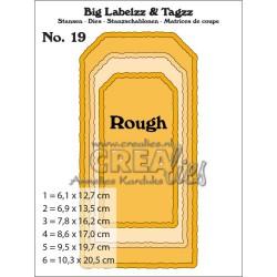 (CLBIGLT19)Crealies Big Labelzz & Tagzz no. 19