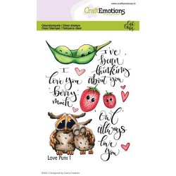 (1504)CraftEmotions clearstamps A6 - Love Puns 1 Carla Creaties
