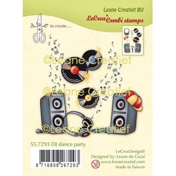 (55.7293)Clear Stamp combi DJ dance party