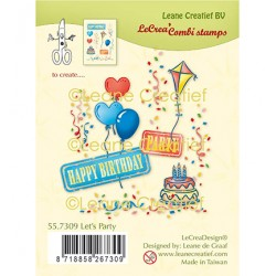 (55.7309)Clear Stamp combi Let's party