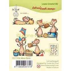 (55.7316)Clear Stamp combi Mice Party