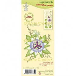 (55.7354)Clear Stamp combi Passion Flower 3D