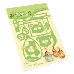 (45.7248)Lea'bilitie Box Pets party cut and embossing die