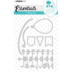 (STENCILSL358)Studio Light Cutting and Embossing Die Essentials - nr.358