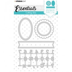 (STENCILSL359)Studio Light Cutting and Embossing Die Essentials - nr.359