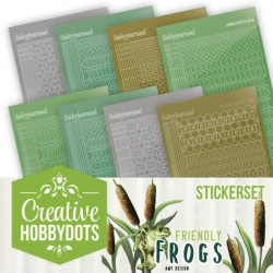 (CHSTS010)Creative Hobbydots Stickerset 10 - Amy Design - Friendly Frogs
