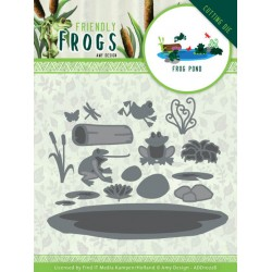 (ADD10228)Dies - Amy Design - Friendly Frogs - Frog Pond