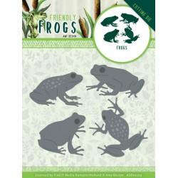 (ADD10229)Dies - Amy Design - Friendly Frogs - Frog