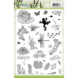 (ADCS10072)Clear Stamps - Amy Design - Friendly Frogs