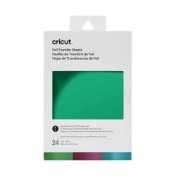 (2008715)Cricut Foil Transfer Sheets Jewel Sampler 10x15cm (24pcs)