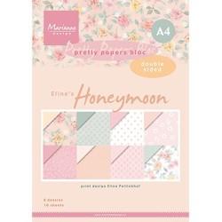 (PB7060)Pretty Papers bloc A4 Eline's Honeymoon - 4