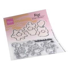 (ec0187)Clear Stamp Eline's Animals - Pigs