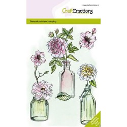 (1335)CraftEmotions clearstamps A6 - Roses GB Dimensional stamp