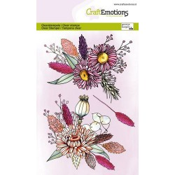 (1336)CraftEmotions clearstamps A6 - Dried flowers arrangement GB