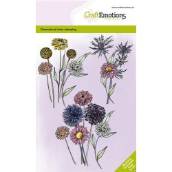 (1337)CraftEmotions clearstamps A6 - Dried flowers GB Dimensional stamp