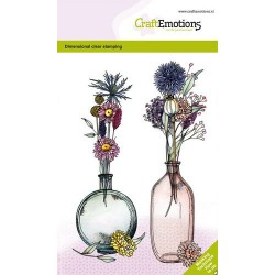 (1338)CraftEmotions clearstamps A6 - Dried flowers vase 1 GB Dimensional