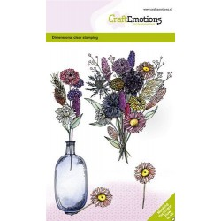 (1339)CraftEmotions clearstamps A6 - Dried flowers vase 2 GB Dimensional stamp