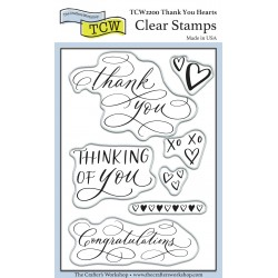 (TCW2200)The Crafter's Workshop Thank You Hearts 4x6 Inch Clear Stamp