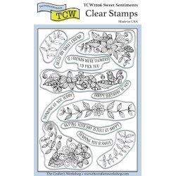 (TCW2206)The Crafter's Workshop Sweet Sentiments 4x6 Inch Clear Stamp