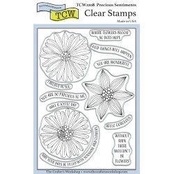 (TCW2208)The Crafter's Workshop Precious Sentiments 4x6 Inch Clear Stamp