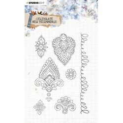 (STAMPCNB516)Studio light Stamp Celebrate new beginnings nr.516
