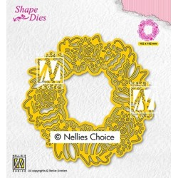 (SD188)Nellie's Shape Dies Easter wreath
