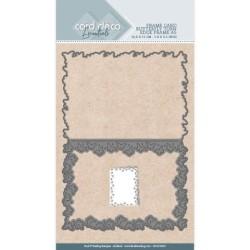 (CDCD10025)Card Deco Essentials - Cutting Dies - Butterfly Torn Edge Frame A5