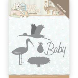 (YCD10234)Dies - Yvonne Creations - Newborn - Stork