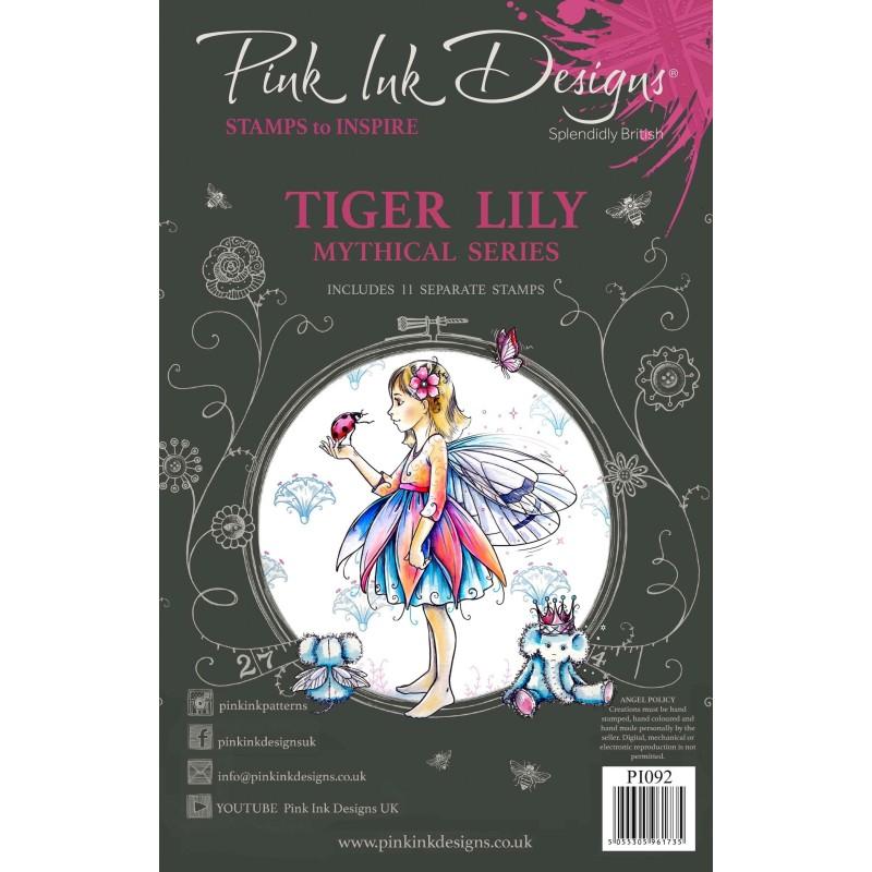 (PI092)Pink Ink Designs Clear stamp set Tiger lily