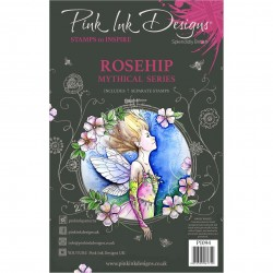 (PI094)Pink Ink Designs Clear stamp set Rosehip