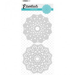 (STENCILSL384)Studio Light Cutting and Embossing Die Mandala Essentials nr.384
