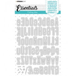 (STENCILSL390)Studio Light Cutting and Embossing Die Alphabet Tall Essentials nr.390