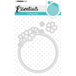 (STENCILSL387)Studio Light Cutting and Embossing Die Small shape round flower Essentials nr.387