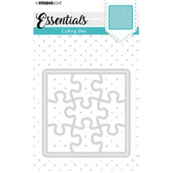 (STENCILSL388)Studio Light Cutting and Embossing Die Small shape square puzzle Essentials nr.388
