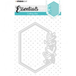 (STENCILSL389)Studio Light Cutting and Embossing Die Small shape hexagon hearts Essentials nr.389