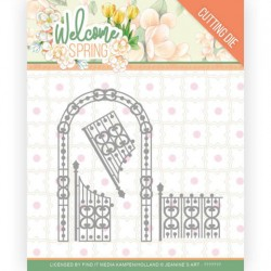 (JAD10113)Dies - Jeanine's Art - Welcome Spring - Arch and Fence