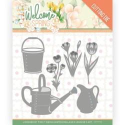 (JAD10117)Dies - Jeanine's Art - Welcome Spring - Watering Can and Bucket