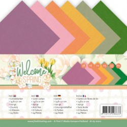 (JA-A5-10012)Linen Cardstock Pack - A5 - Jeanine's Art - Welcome Spring